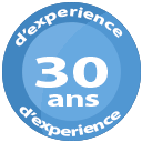 picto 30 ans d'experience